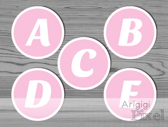 Alphabet Pink Circle - Download