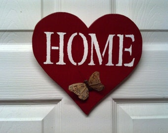 Heart Home Sign Decoration