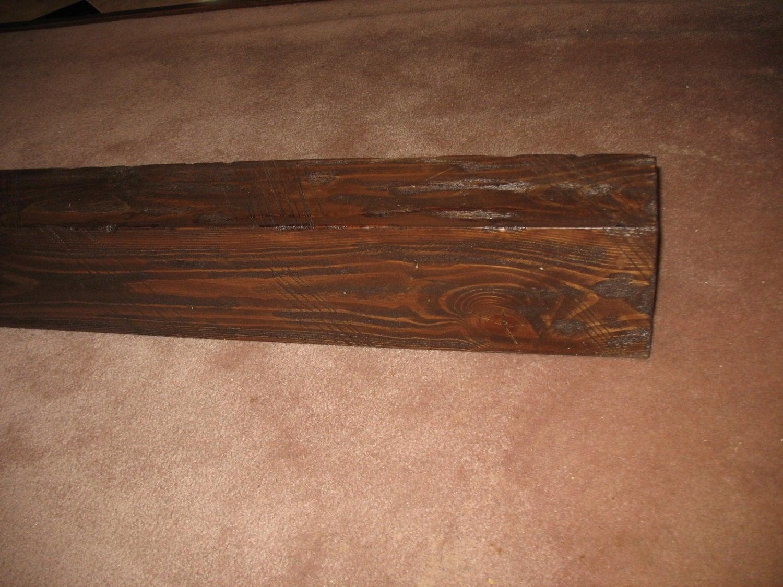 Rustic Faux Barnwood Fireplace Mantel By Pinnaclepointewoodwo