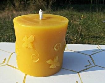 Bee Pillar Beeswax Candle