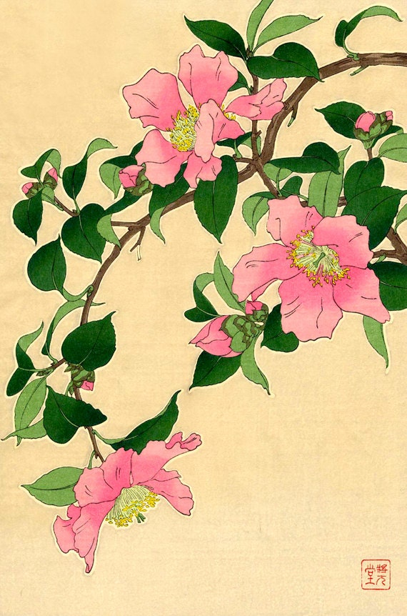 Japanese flowers art p...