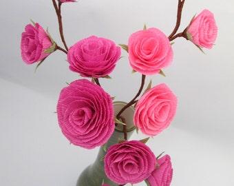 Flower Arrangement, Peper Flowers, Wedding Centerpiece, Floral Arrangement, Home Decor, Pink Roses, Table Paper Floral Centerpieces