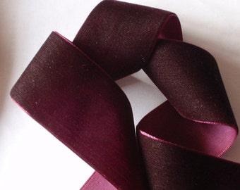 3 yards 1.5 inches Velvet Ribbon in Raisih  RY15-230