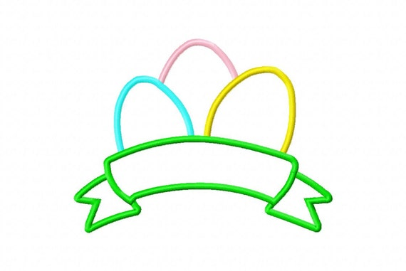BANNER EGGS machine embroidery design from EastCoastApplique