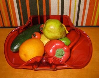 Mid Century Modern Eames Era Rare Orange Viking Large Seving Bowl-Retro, Beautiful!