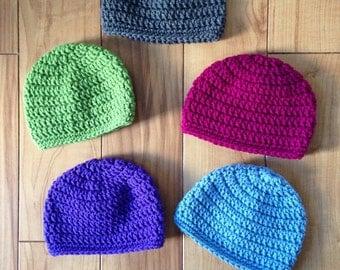 Crochet Cap   Newborn - Adult Sizes