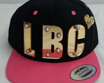 LBC 3d acrylic snapback cap hat bolted