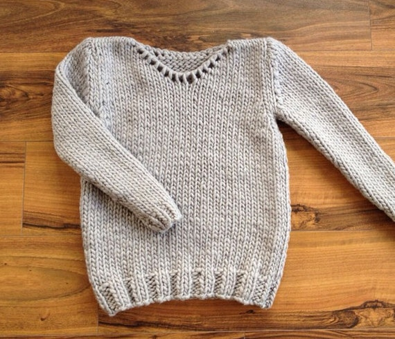 Easy Sweater Knitting Pattern For Beginners : Beginner sweater knitting kit set easy