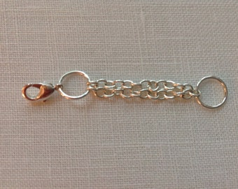 Extender, Silver Plated, Bracelet or Necklace,  Plain,  2 in, 50.8 mm