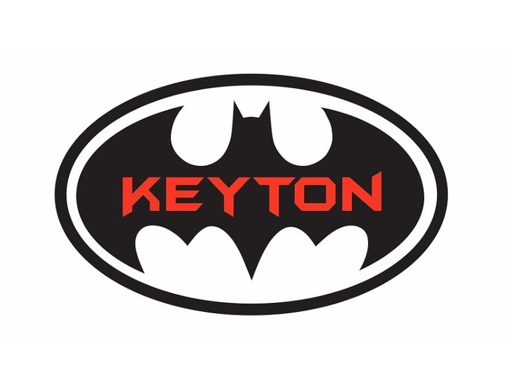 Batman Name Wall Quote Sign Vinyl Decal Sticker By