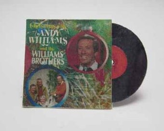 Record Album Christmas with Andy Williams & the Williams Brothers - dollhouse miniature 1:12 scale