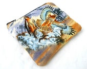 Hawk Nest Zipper Pouch - Bird of Prey Clutch Wallet Electronics