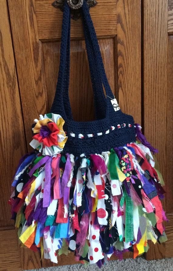 Fabric strip purses