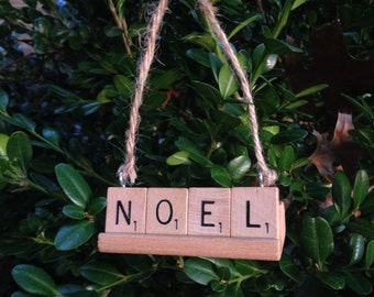 Sale: NOEL Ornament, Christmas Ornament, Upcycled, Gift for Pastor