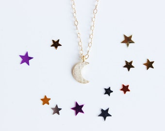 Gold Moon Necklace Tiny Moon Necklace Gold Crescent Moon Necklace Gold Filled Necklace Half Moon Necklace Gold Moon