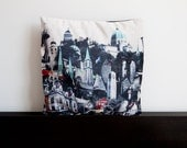 Classy Montréal Fine Art Velveteen Pillow Cover - 18x18 inches and 22x22 inches