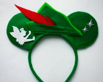 Peter Pan Minnie Mouse inspired ears