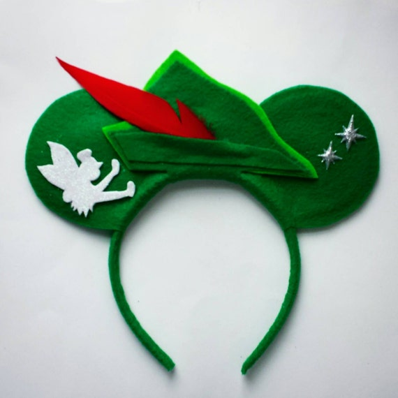 Peter Pan Minnie Mouse Inspired Ears Headband