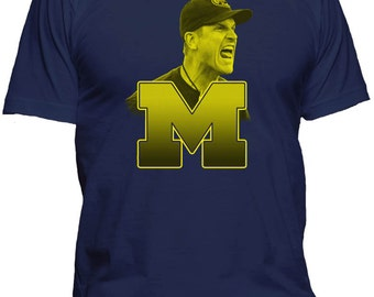 Jim Harbaugh Michigan T Shirt Wolverines Sm-4x