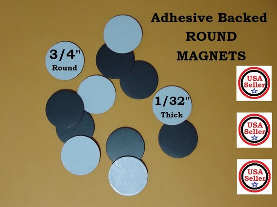 100 pieces 3 4 inch adhesive backed magnets round for Thin magnets for crafts