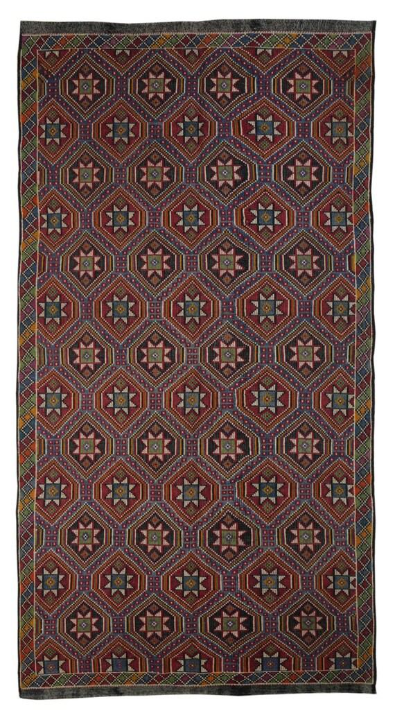 Turkish Kilim Rug Jijim Kilim Rug Multi Color by