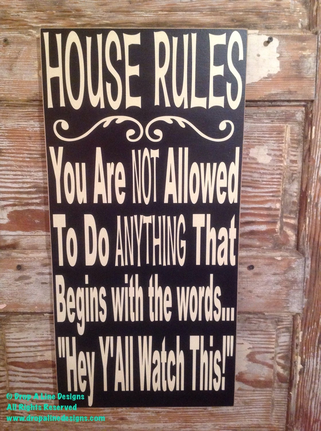 Funny rules of the house
