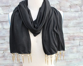Fashion jewelry  scarf  black   color