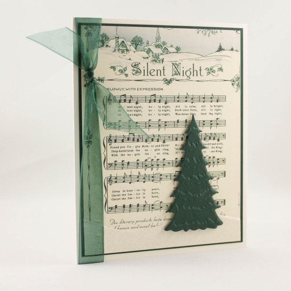 Handmade christmas card unique christmas card christmas for Elegant homemade christmas cards