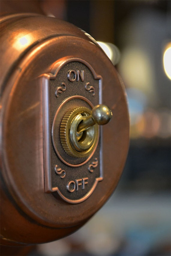 Old Fashioned Clicking Light Switch