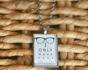 Eye Chart Vision Quote Necklace