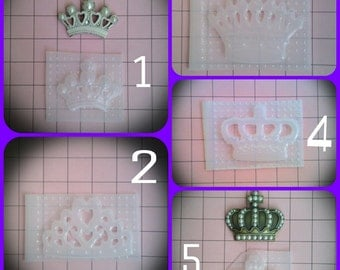 Keep Calm Tiara Resin Mold and Several Different other StyleCrowns You choose