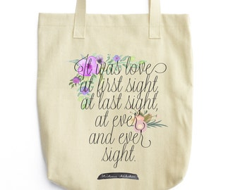 Nabokov Tote - Floral Print Book Bag