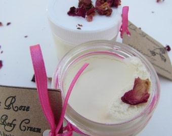 Organic Face and Body Cream, Rose Essential Oil