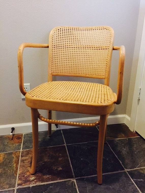 thonet 39 prague 39 chair no 811 bentwood dining arm chair w cane seat
