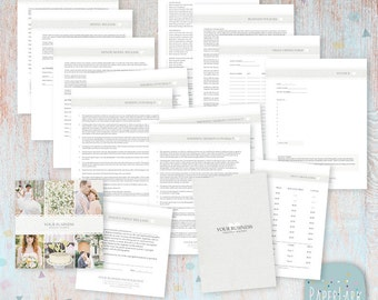 Photography Contracts Forms Templates - Photoshop Templates - NG012 - INSTANT DOWNLOAD