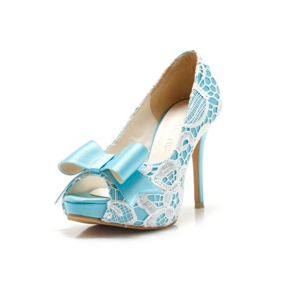 Custom Made Something Blue Wedding Shoes Sky Blue Wedding