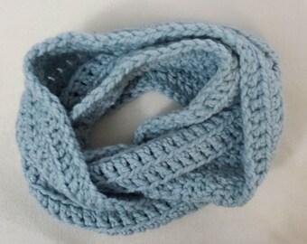 Subtle Sparkle Stripes Crochet Wrap Infinity Scarf