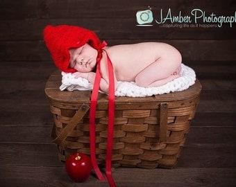 Crochet Shell Stitch Newborn Baby Bonnet - MADE TO ORDER