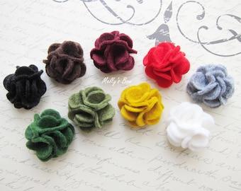 """Carnation Men's Boutonniere - Lapel Pin - Suit Pin - Buttonhole - Wool Felt Lapel Flower - 1"""""""