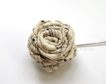 Music Notes Rose Boutonniere - Mens Lapel Pin - Lapel Flower - Brooch pin