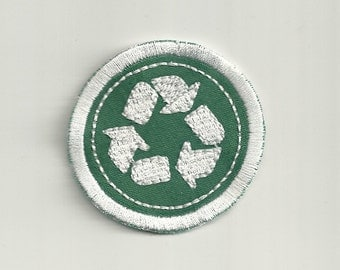 "2"" Recycling Merit Badge, Patch! Custom Made!"