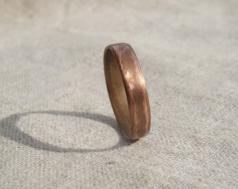 Engraved Personalised Mens ring, mens wedding band, men copper jewelry, personalised jewelry