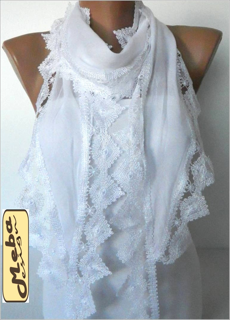 white scarf scarves lace scarf fashion