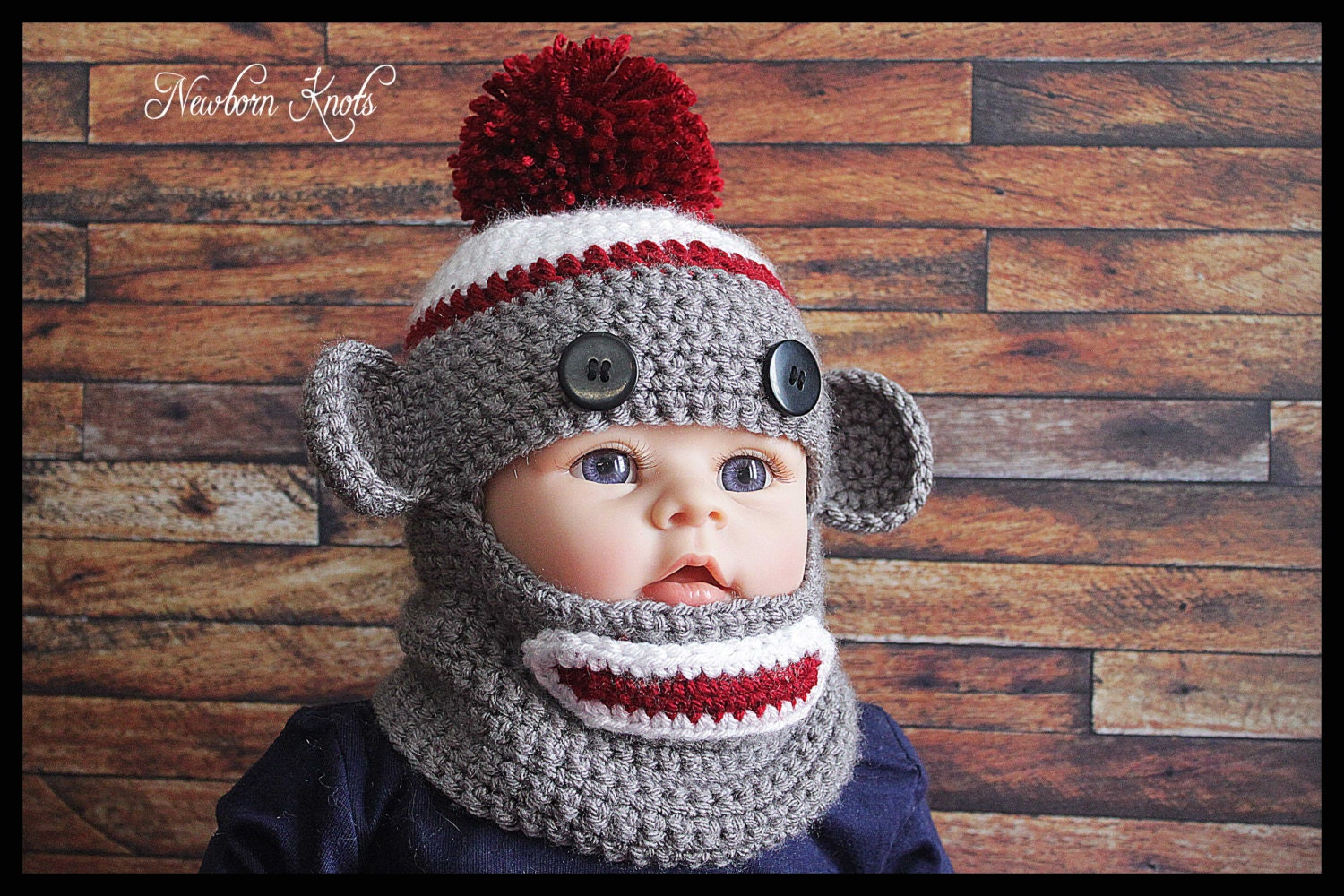 CROCHET PATTERN Monkey Balaclava. Pattern number 057. Instant
