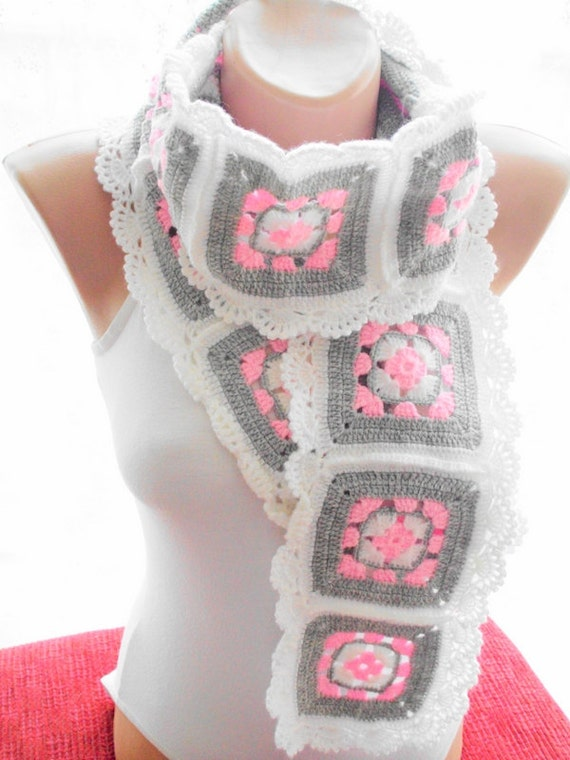 crochet scarf afghan scarf accessories gift by
