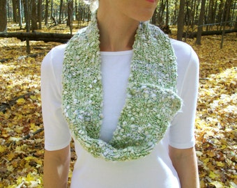 Green Knit Infinity Scarf Convertible
