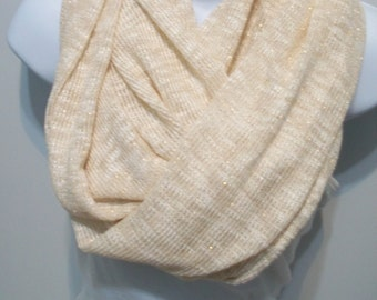 Sparkle heavy knit fabric infinity scarf loop circle scarf infinity scarf New Year scarf