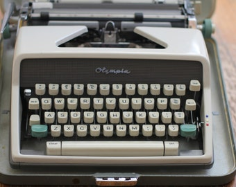 Vintage Olympia Typewriter Retro Office by Nine Star Vintage