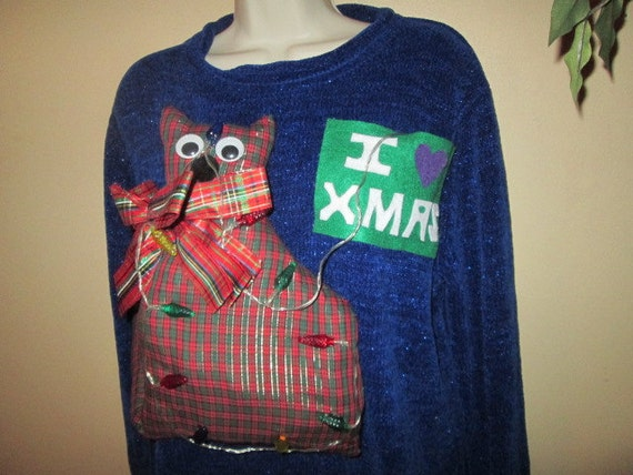 Winner Pussy Cat Lights Up Womens Metallic N Plaid By Justbelieve3-7902