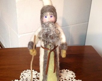 Needle Felted Father Time Santa